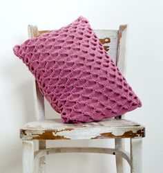 Knitted Cushion Cover Dusty Pink Eco Cotton by ArticleApparel, $75.00