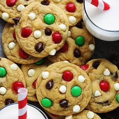 pSanta's favorite cookies! Soft and chewy double chocolate chip pudding cookies with M&M candies. The ultimate holiday cookie! Have I mentioned...