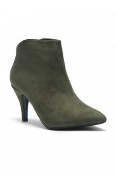 ea89abc8832a HerStyle Women s Manmade Slmanderr Sueded Ankle Boot with 3.5-inch Heel  (Olive)