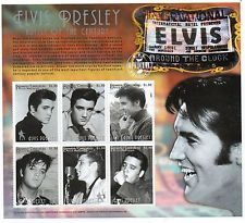 Elvis PRESLEY Granada carriaco 1999 mint stamp sheet.  NEW without hinge.  artist of the century