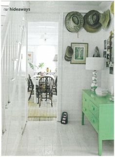 I love painted furniture. I love green.