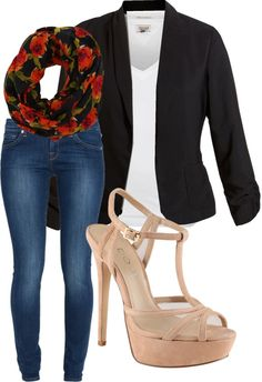 """Blazer Outfit no.1"" by huiwenzheng on Polyvore"
