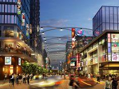 Commercial Complex, Commercial Street, Centre Commercial, Shopping Street, Shopping Malls, Urban Landscape, Landscape Design, Retail Facade, Retail Architecture