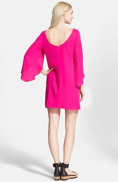 Milly Butterfly Sleeve Stretch Silk Crepe Dress | Nordstrom