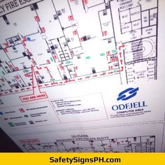 Deliver a safe and clear egress route to building occupants with our customized photoluminescent evacuation p. Evacuation Plan, Fire Escape, Philippines, Maps, How To Plan, Map, Cards