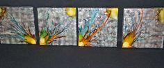 Alcohol ink Ceramic tile art Coasters  by Terripoppinscrafts. $20.00, via Etsy.