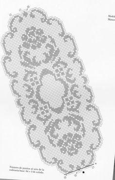Scheme crochet no. 2107 Scheme crochet no. Crochet Table Runner Pattern, Crochet Edging Patterns, Filet Crochet Charts, Crochet Tablecloth, Crochet Motif, Crochet Doilies, Dress Patterns, Crochet Round, Crochet Home