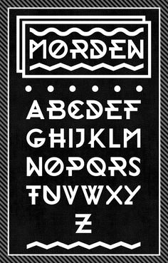 "Morden Free Font by Andrea Buttieri, via Behance - ""This is my first font called Morden"