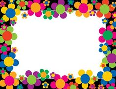 Neon Flower Power Border for invitations Soft Board Decoration, School Board Decoration, School Decorations, Classroom Borders, Bulletin Board Borders, Boarder Designs, Page Borders Design, Hippie Party, Diy And Crafts