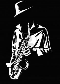Quotes Discover Vector Image Of The Saxophonist Stock Photo Picture And Royalty Free Image. White Art, Black Art, Jazz Art, Jazz Music, Scratchboard, Silhouette Art, Arte Popular, Stencil Art, Black Paper