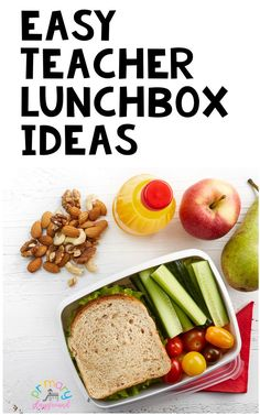 Easy Teacher Lunchbox Ideas #teacherlunch #backtoschool #lunchideas #healthylunch