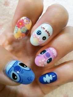 Lilo and Stitch Nails - This fashion
