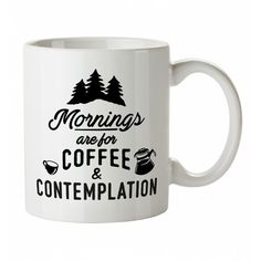 Mornings Are For Coffee And Contemplation Stranger Things Inspired Mug ($8.73) ❤ liked on Polyvore featuring home, kitchen & dining, drinkware, motivational coffee mugs, motivational mugs, inspirational coffee mugs, coffee mugs and inspirational mugs