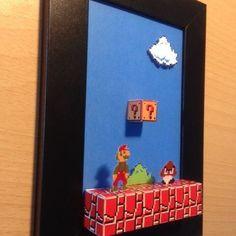 Diy gifts birthday brother mario bros new Ideas Nerd Room, Gamer Room, Diy Paper, Paper Art, Paper Crafts, Super Mario, Mario Room, Retro Videos, Game Room Design