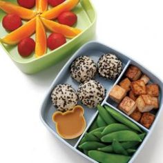 Soy-Lime Tofu & Rice Bento Lunch Recipe #kidslunch #kids #veggies #healthy #fun #delish