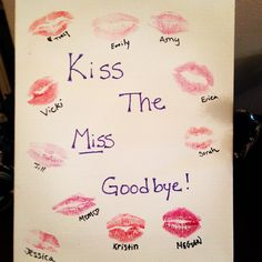 Bachelorette gift for my bestie! Have all of the girls kiss a canvas for a near memento :)