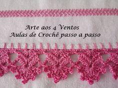 Crochet Edging Patterns, Crochet Lace Edging, Filet Crochet, Crochet Flowers, Crochet Top, Saree Tassels Designs, Chicken Scratch Embroidery, Cross Stitch Embroidery, Crochet Projects