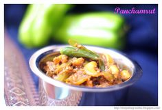Panchamrut - A Maharashtrian style spicy tangy peppers dish