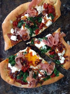 egg pizza recipe with prosciutto ricotta and spinach egg pizza recipe ...