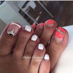 Nail art design ideas to mix up your pedicure Feet Nail Design, Pedicure Nail Designs, Pedicure Nail Art, Toe Nail Designs, Toe Nail Art, Manicure And Pedicure, Acrylic Nails, Gorgeous Nails, Love Nails