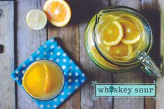 Whiskey Sour Punch - a perfect fall drink