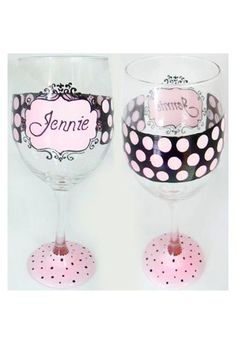 personalized, pink and polka dotted! #bridesmaid gifts