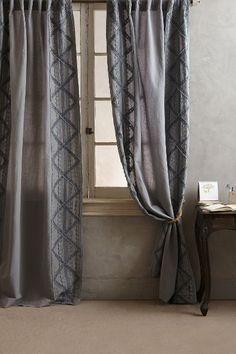 Appliqued Lace Curtain - anthropologie.com