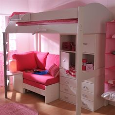 Bunk Bed with Futon and Storage Solution