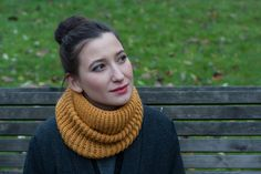 Double-sided Snood (Goldenrod, 65% wool, 45% alpaca)