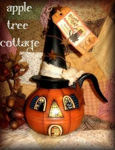 RESERVED WITH PLEASURE FOR LYANA121 - pRiM vInTaGe cOffEE pOt PuMpKiN hOuSe