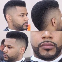 Beard, Moustache & Fade Haircut– Combination Guide For 2020 Black Boys Haircuts, Black Men Hairstyles, Haircuts For Men, Men's Haircuts, Beard Styles For Men, Hair And Beard Styles, Curly Hair Styles, Beard Haircut, Fade Haircut