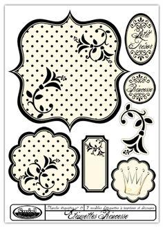 Handmade Gifts & Wrap Ideas : etiquettes Page 13 Vintage Diy, Vintage Labels, Vintage Ephemera, Printable Labels, Printable Paper, Printables, Impression Etiquette, Etiquette Vintage, Digi Stamps