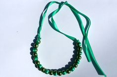Handmade Necklace Tutorial - How to Make A Ribbon Wave Necklace