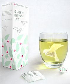 Origami en saquitos de té.   Que delicado!