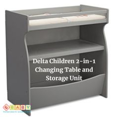 A terrific changing table that includes one fixed shelf and an open storage bin at the bottom. Build from strong & sturdy wood construction. Little Tykes, Delta Children, Table Storage, Room Essentials, Program Design, Wood Construction, Baby Love, Baby Shop, Baby Gifts