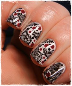 OMG, PAISLEY AND DOTS! Why didn't I think of this? | from A Girl and Her Polish