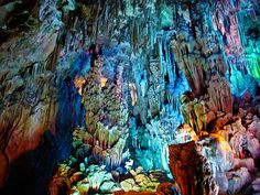 Guilin 桂林 in 广西  Reed Flute Cave