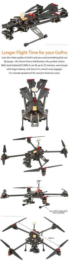 STORM Drone AntiGravity GPS Flying Platform (RTF / NAZA V2) http://www.helipal.com/storm-drone-antigravity-gps-flying-platform-rtf-naza-v2.html
