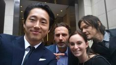 Lucky girl with Steve Yuen, Andrew Lincoln, Norman Reedus