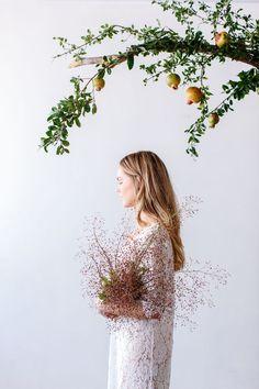 beautiful portrait with lovely plants Luisa Brimble