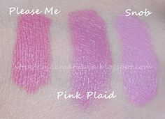 If you're a pink lipstick junkie like me, these are 3 MUST HAVES from MAC. They are 3 of my fav matte pinks. All so gorgeous. Please Me, Pink Plaid & Snob.