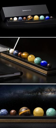 "DeskSpace is a desk accessory that allows you to ""experience the beauty of the solar system everyday."""