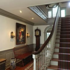 1000 images about colonial foyer on pinterest colonial for Mckie wing roth home designs