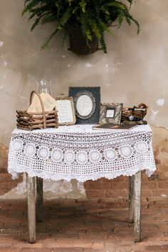 super cute rustic welcome table at wedding ceremony captured by White Rabbit Studios http://thewhiterabbitstudios.com/