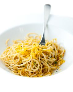 Never heard of bottarga, sounds yummy. Spaghetti alla Bottarga | Zen Can Cook