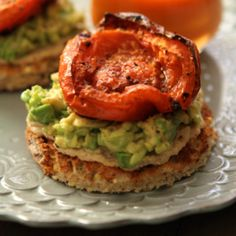 Hummus, Avocado and Roasted Tomato Toasts. Click on Pic for Recipe~