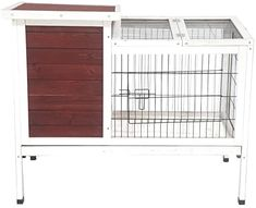 Keep rabbits, chickens and other small pets safely contained within this chicken coop and rabbit hutch. Its small design is easily portable so you can place it in any preferred space outside of your home. This durable chicken coop is made of solid fir wood that naturally repels pests, fungus and rot. The sturdy design of this home will keep your animals safely sheltered and keep your cage dependable for years of use. #chickencoops #amazon #backyardchicken #homesteading #gentlemanpirateclub Small Chicken Coops, Diy Chicken Coop, Backyard Poultry, Chickens Backyard, Poultry Cage, Building A Chicken Coop, Rabbit Hutches, Chicken Runs, Wood Construction