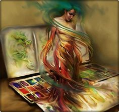 Me pinto, me dibujo, me convierto en mi propia obra de arte
