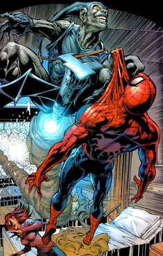 Spider-Man vs Gray Goblin (Gabriel Stacy) by Mike Deodato Jr