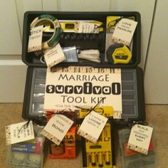 Marriage Survival Toolkit- love this for the groom, being they really never get anything!